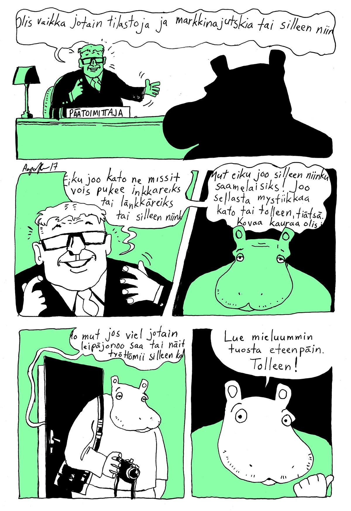 Aapo Kukko: Hibbo 3, Kaltion sarjakuva 6/2017